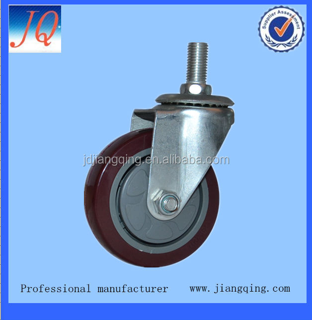 100mm pu locking casters and wheels
