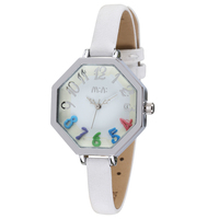 polygonal case with arabic number dial no label hand made watch accessories
