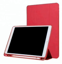 New Shockproof Smart Magnetic Leather Stand Cover Case with pen holder for ipad 5 6 7 8