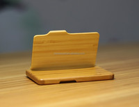 portable bamboo business card case