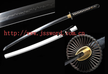 Handmade Clay-tempered T10 Steel Choji Hamon White Saya Japanese Samurai Sword Katana JK174WT
