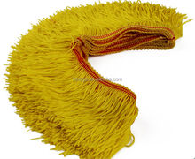 YELLOW rayon Chainette tassel Fringe , rayon fringe , for dance dresses