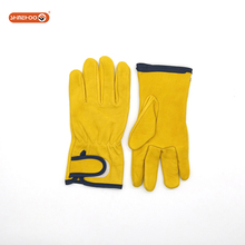 SHINEHOO Goat Leather Drivers Leather Work Safety Gloves