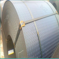 China GB standard hot rolled steel checkered coil price
