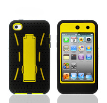 Robot kickstand case for ipod touch 4 case,pc case for ipod touch 4