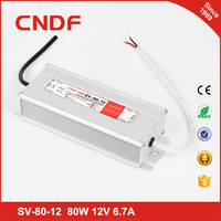 China supplier CNDF waterproof SV- 80-12 80w 12volt constant Voltage led driver IP67