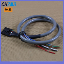 6 cores UL 2464 PVC Jacket Cable toTJC8A Dupont 2.54 with lock type connector wire harness
