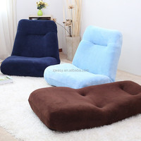 Japanese Fabric spring low floor sofa with 5 positions adjustable