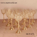 2018 Creative tulip design crystal candelabra wedding table centerpiece for wedding party decoration (MCP-073)