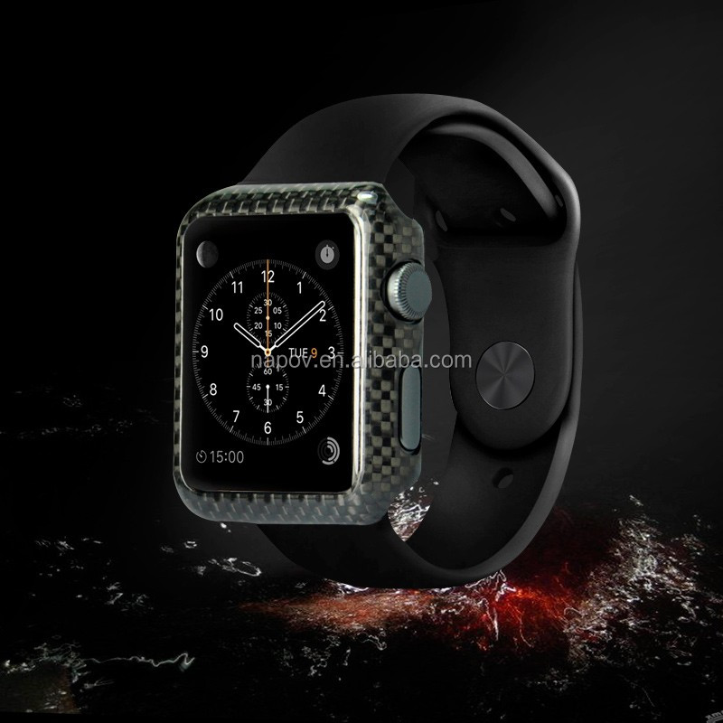 High Quality 100% Real Carbon Fibre Cover Case for Apple Watch 38mm 42mm
