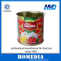 Tin can for pasta de tomate estilo panameno