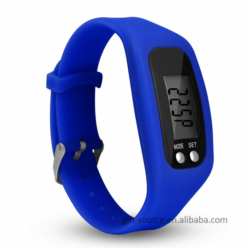 2017 Hot Selling Digital precise Silicone Wristband hand strap pedometer skmei pedometer watch instructions