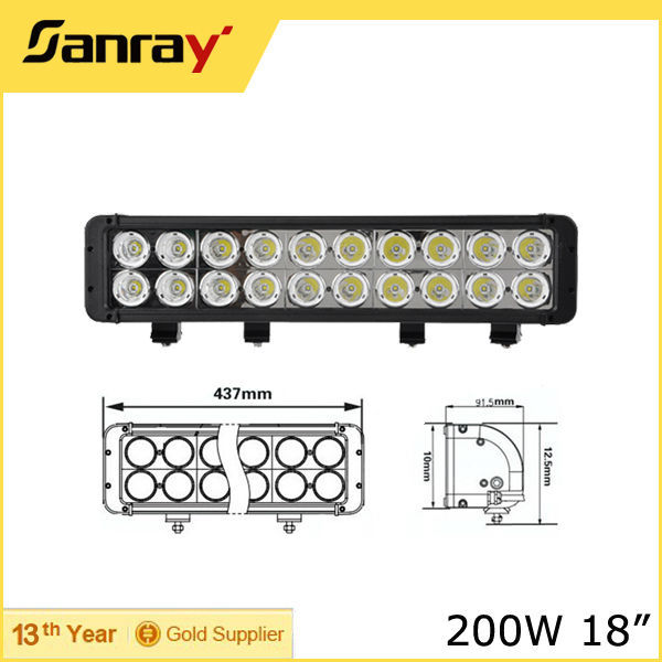 12/24Volt Off road Car 4X4 200W Led Light Bar for Tractor Vehicles