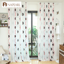 NAPEARL latest design new products tulle fabric window panel living room kitchen curtains