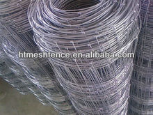 2m hinge joint knotted field fence/ high tensile woven cattle fence factory