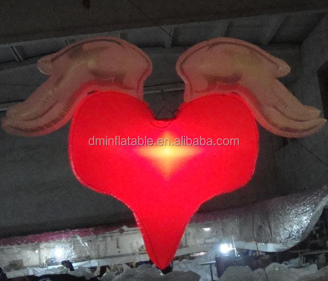 large inflatable red heart