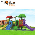 Hot selling children's double crown playhouse colorful plastic outdoor slide for kids fun