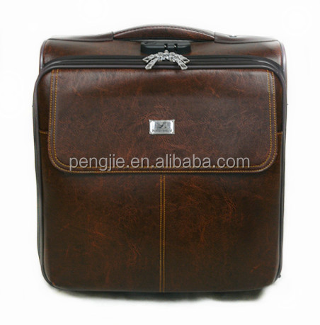 Fashion business caster pilot bag for 2 pcs