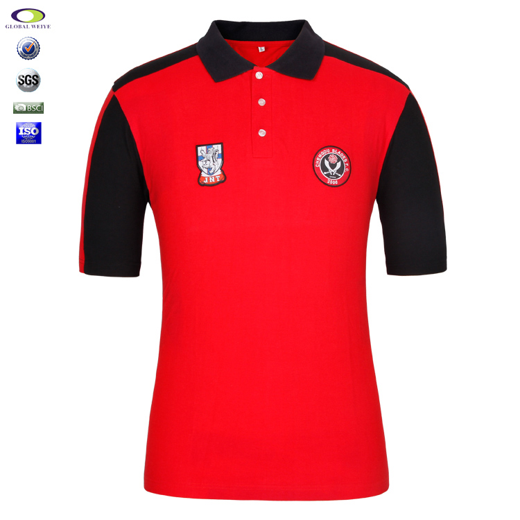 Wholesale Color Combination Polo Shirt Logo Embroided Mens
