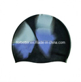 hot sell colorful printed silicone swimming caps
