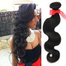 Peruvian virgin hair body wave color #1B unprocessed Human hair weaves Free Shipping Cheap Peruvian body wave