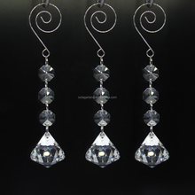 Diamond Glass Strands, Hanging Crystal Beads Chain Garland, Crystal Chandelier Pendants Parts Glass Beads