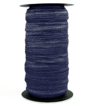 Navy Fold Over Elastic (100 Yard Roll) Shiny, trim, satin elastic band