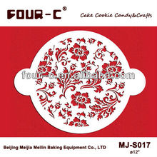 Chic Rose circle cake stencils cake top stencils fondant tools