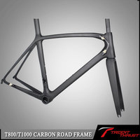 Frameset with frame,headset,seatpost,clamp,fork electric bike frame telaio carbonio 2016 road bike carbon frame china
