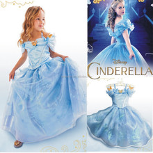 1-6 years old baby girl dress cinderella flower girl dresses QKC-2559