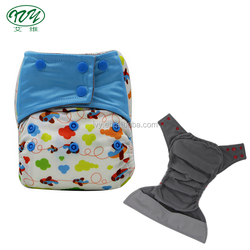 In stock reusable washable PUL insert all in one pocket bamboo charcoal baby aio diaper