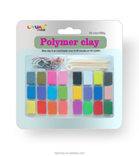 24 color polymer clay contains the accessories and tools