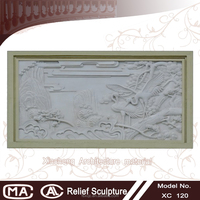 sculpture antique carved style grc wall murals