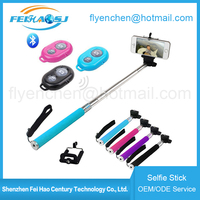 2016 wholesale monopod selfie stick bluetooth monopod wireless
