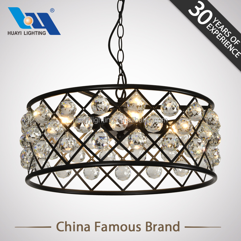 Manufactory Wholesale alibaba hot sale modern crystal rustic iron chandelier