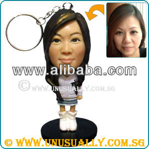 Personalized 3D Key Ring Mini Figurines That Made To Look Like U & Your Loved Ones - Unusually Creation