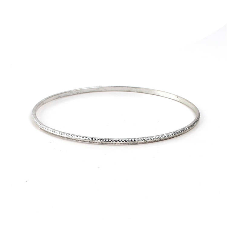 man silver bangles image textured bangle