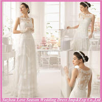 WD9108 2015 latest design made in China sweep train closed see throught back layers tulle A-line turquoise sash wedding dress