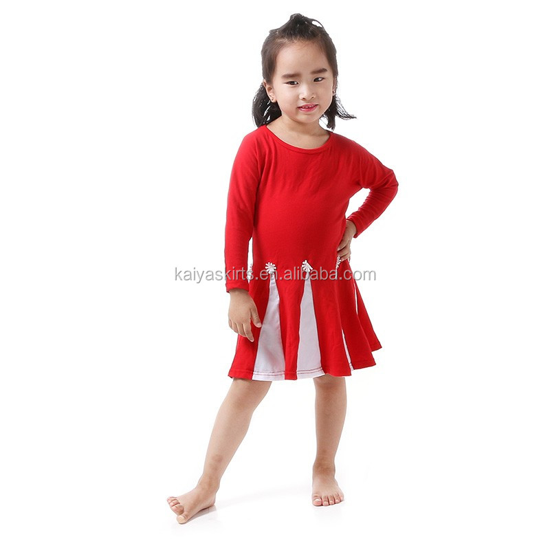 kids clothes baby frock design pictures red white christmas dress
