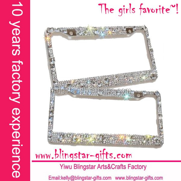 luxury metal license plate frame
