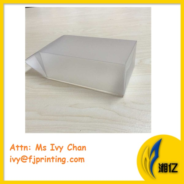 Folded over clear PVC plastic box for cosmetic