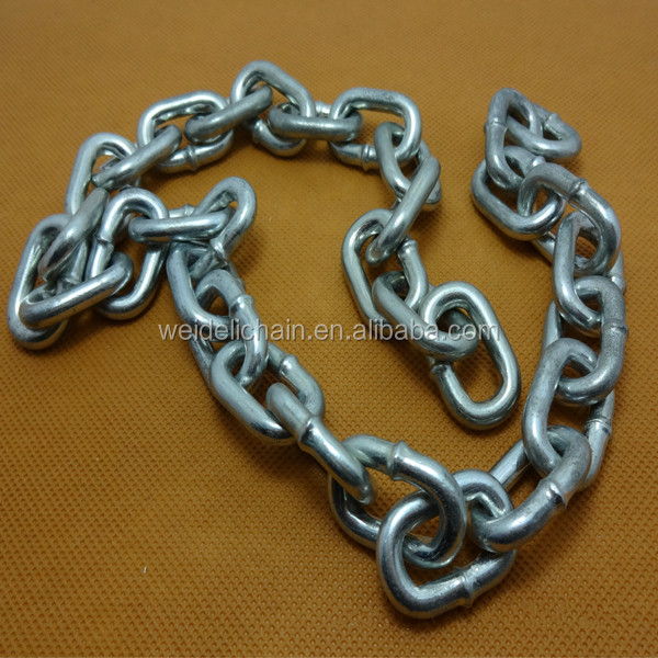 Ordinary Mild Steel Galvanized Chain Welded Link Chain