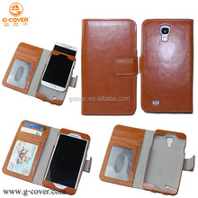 New brand low price Case covers for galaxy s4 pu leather case