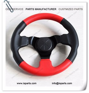 300mm diameter PU Leather sport Steering Wheel For Go Kart with three holes