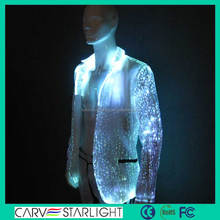 2015 newest fashion led glow top brand coat pant men suit