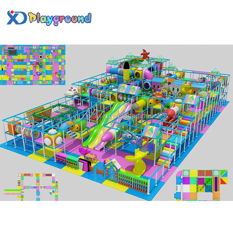 Wholesale customized candy style indoor playground in top quality