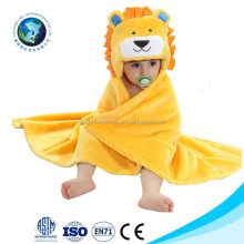 Baby bath towel Flannel fleece cartoon animal head baby hooded poncho towel
