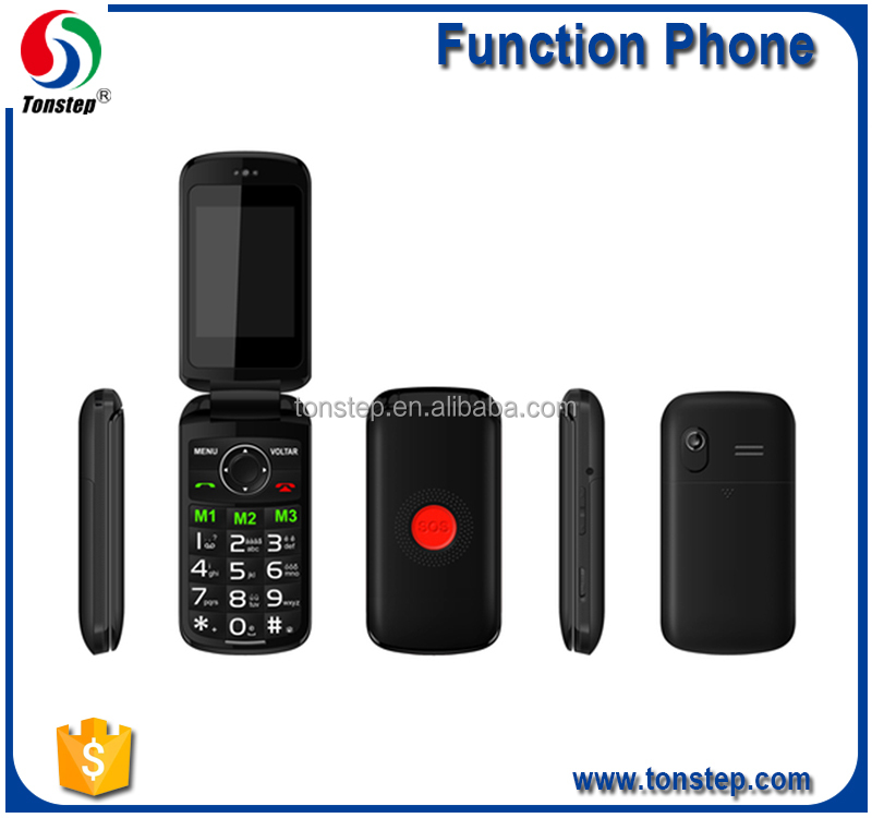 2016 hot selling high end senior mobile phone, sos phone, senior flip phone Dual SIM with low cost