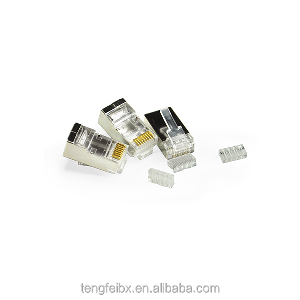 Wholesale RJ45 3U 6U 15U gold plated CAT6 Plug/Connector