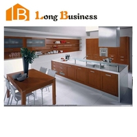 LB-JX1187 American style small kitchen designs with solid wood door panel